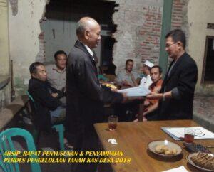 BPD menyerahkan rancangan perdes yang telah disetujui menjadi perdes kepada kepala desa
